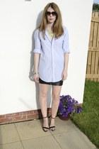 next shirt - Zara shoes - Prada sunglasses - H&M skirt