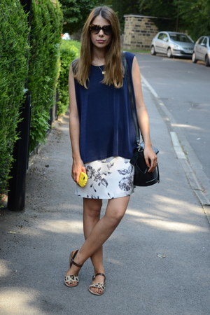 Topshop dress - Topshop bag - Prada sunglasses - barratts sandals
