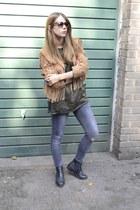Topshop boots - Topshop jeans - thrifted vintage jacket