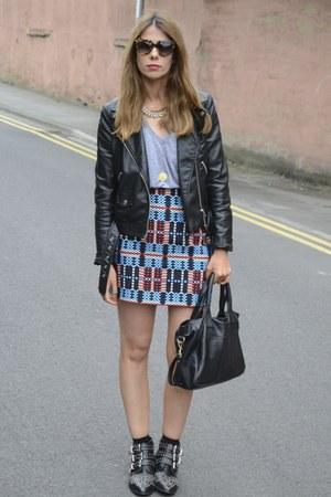 Zara skirt - H&M jacket - Prada sunglasses - American Apparel t-shirt