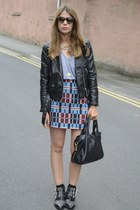 Zara skirt - H&M jacket - Prada sunglasses - American Apparel t-shirt