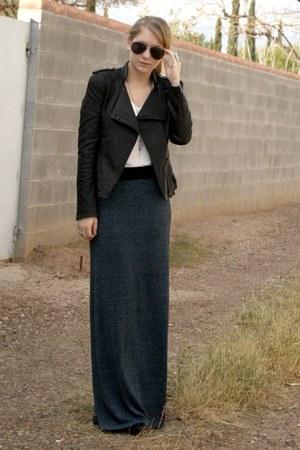 teal f21 skirt - black f21