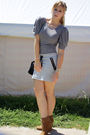 Gray-h-m-skirt-gray-dress-brown-zara-shoes