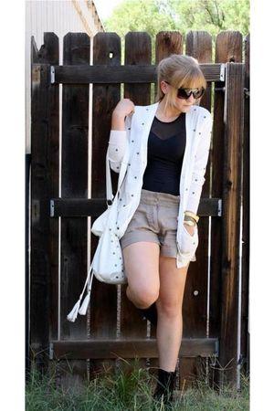 white storetscom cardigan - white Ross purse