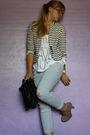 Blue-f21-jeans-white-f21-t-shirt-black-storets-purse-white-mango-jacket
