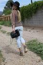 Forever-21-blouse-brown-asos-shoes-forever-21-jeans-black-primark-bag-bl