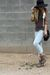 Forever 21 blouse - brown asos shoes - Forever 21 jeans - black Primark purse -