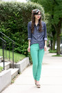 Aquamarine-h-m-jeans-blue-express-shirt-light-brown-blowfish-shoes-heels