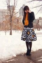 black Urban Outfitters sweater - mustard Target scarf - white Diane Von Furstenb