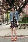 Black-floral-tucker-for-target-dress-h-m-jacket-red-seychelles-heels