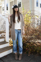 blue Gap jeans - camel Old Navy boots - tan H&M sweater