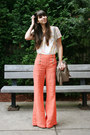 Tan-theit-bag-light-orange-anthropologie-pants-ivory-urban-outfitters-top
