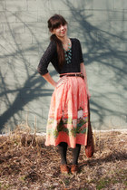brown big buddha shoes - black Urban Outfitters sweater - black Express tights -