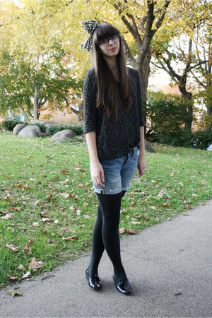 black Jeffrey Campbell shoes - dark gray Urban Outfitters sweater