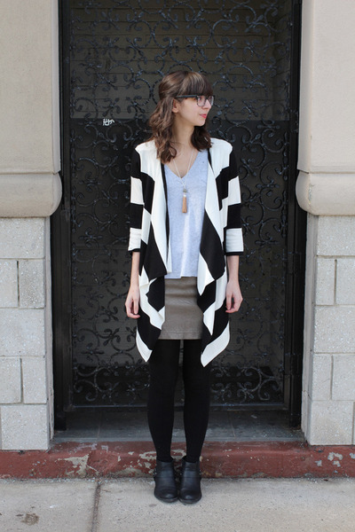 cardigan - Forever21 boots - Urban Outfitters skirt - Gap t-shirt