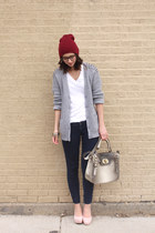 navy Old Navy jeans - maroon Urban Outfitters hat