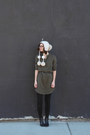 Black-dsw-boots-army-green-lou-grey-dress-off-white-urban-outfitters-hat
