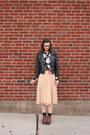 Brown-dsw-boots-black-sheinside-jacket-black-loft-sweatshirt