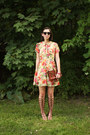 Coral-urban-outfitters-dress-brown-coach-bag