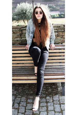 vintage jacket - Zara sandals