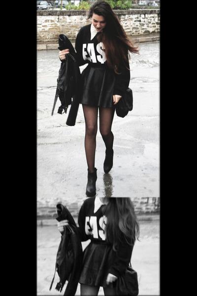 black Miista boots - black easy money clothing sweatshirt