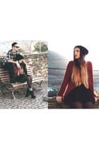Jeffrey Campbell boots - Zara dress - asos hat - Zara jumper