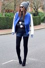Heather-gray-beanie-topshop-hat-blue-baseball-topshop-jacket