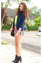 H&M shorts - Topshop blazer - H&M vest