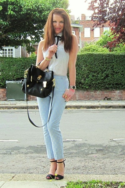 Topshop pants - H&M shirt - Mulberry bag - Zara heels