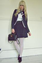 new lookdiy blazer - Primark skirt - Top Secret shirt - new look shoes - vintage