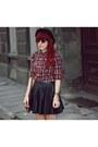Brick-red-new-look-shirt-black-h-m-skirt