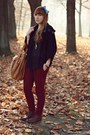 Dark-brown-new-look-boots-bronze-reserved-bag-navy-primark-cardigan
