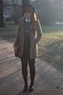 Light-brown-f-f-coat-navy-primark-blouse-black-h-m-skirt