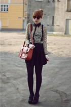 eggshell OASAP shirt - tawny new look bag - black Primark skirt
