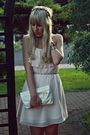 Pink-h-m-dress-beige-primark-shoes-white-primark-bag