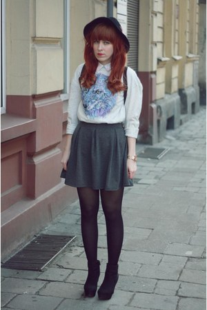 H&amp;M skirt - Fashon Union sweatshirt - new look wedges