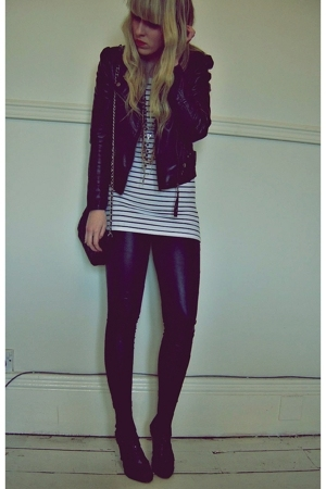 Atmosphere jacket - new look leggings - new look top - Dorothy Perkins purse