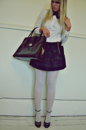 H&M shirt - Atmosphere skirt - H&M accessories - Atmosphere shoes - from YOUTHAG