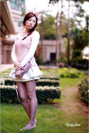 light pink snidel coat - white snidel shorts - light pink unknown brand top