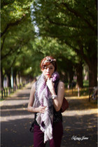 deep purple gu jp pants - deep purple bow headband accessories