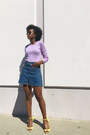 Light-purple-banana-republic-top-blue-zara-skirt