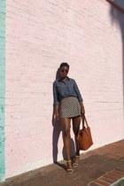 cream Forever 21 skirt - blue English Laundry top