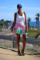 white victorias secret pink bra - ivory Reiss top