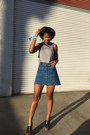Silver-cotton-on-shirt-blue-zara-skirt-carlos-wedges