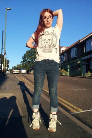 navy leopard print Primark kids jeans - silver skull ace primark mens t-shirt