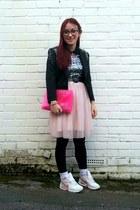 black diamante H&M blazer - light pink H&M Kids dress