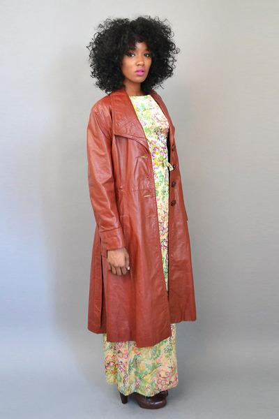 vintage coat - vintage dress