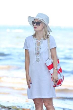 panama hat Lulus hat - lace up Preloved dress