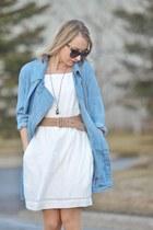 chambray Gentle Fawn jacket - white H&M dress - Gucci sunglasses