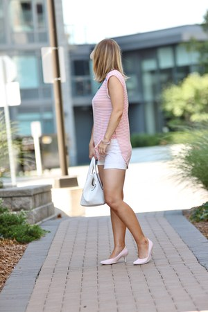 pink Zara pumps - Pinkstix bag - Bedo shorts - winners top
